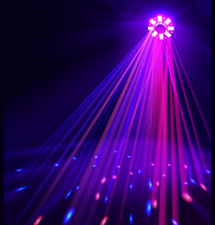 spotlight with colored lights vector image