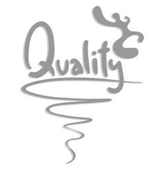 Sticker quality vector
