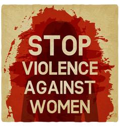 stop violence against women concept vector image