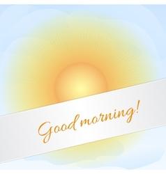 Sunny sky card vector image