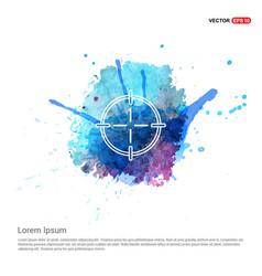 Target icon - watercolor background vector