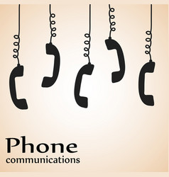 Telephone phone communications design poster vector