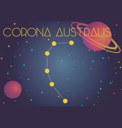 The constellation corona australis vector