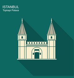 Topkapi palace gate of salutation istanbul vector