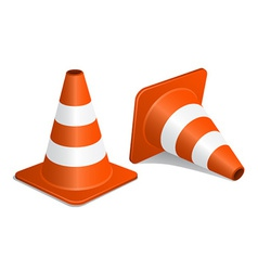 Traffic cones with shadow vector