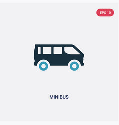 two color minibus icon from transportation vector image