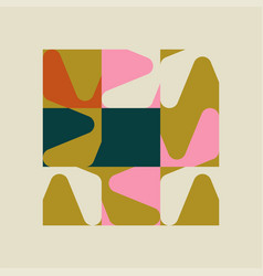 Unusual abstract poster design with geometric vector