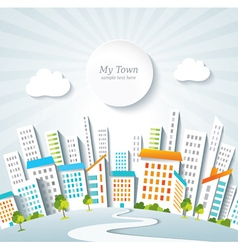 Urban lifestyle Town panorama vector image
