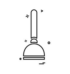 vacuum cleaner icon design vector image
