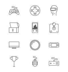 video games related vector image