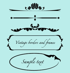 Vintage frames borders text dividers vector