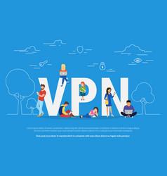 Vpn concept vector