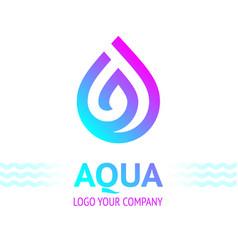 water drop sybol bright color vector image