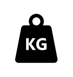 Weight kilogram icon on white background vector