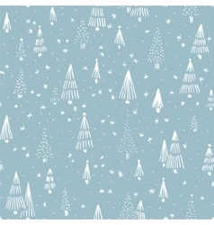 Christmas background pattern vector image vector image