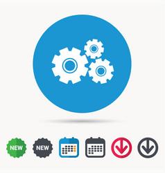 cogwheels icon repair service sign vector image