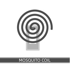 mosquito repellent coil icon vector image vector image