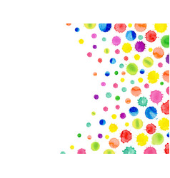 multicolored watercolor blot template abstract vector image