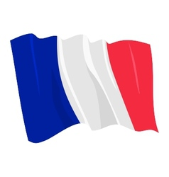 political waving flag of france vector image vector image