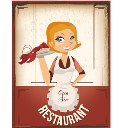 restaurant poster vector image