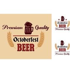 Retro beer label or emblem vector image vector image