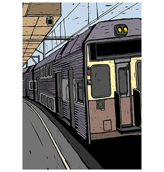 Train Platform Background vector image