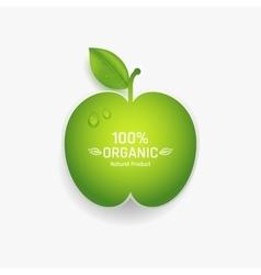 Apple label vector image vector image