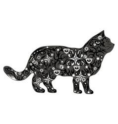 cat gray vector image