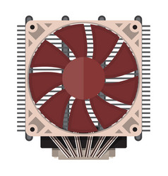 plastic computer processor cooler with radiator vector image vector image