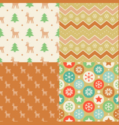 seamless pattern wallpaper of christmas vector image