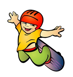 boy on skateboard vector image
