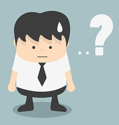 Businessman with Question mark vector image vector image