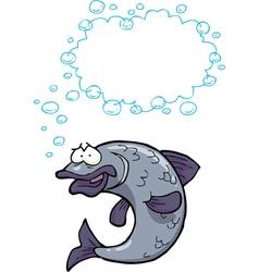 fish said bubbles vector image