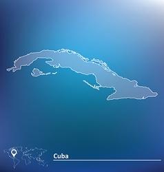 Map of Cuba vector image vector image