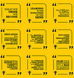 Set of motivational quotes about wisdom vector image