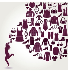 Women s fashion background vector image vector image