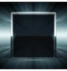 Abstract virtual space screen vector image vector image