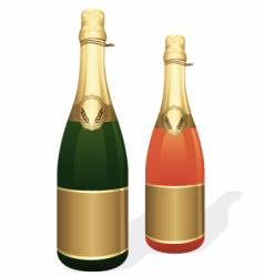 Champagne bottles vector