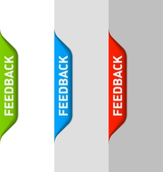 Feedback element vector image vector image