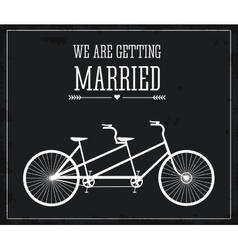 Married design Wedding icon Flat vector image vector image