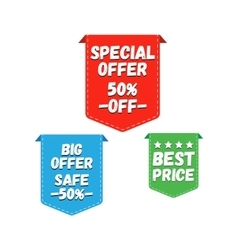Special Offer Big Offer and Best Price Marks vector image vector image