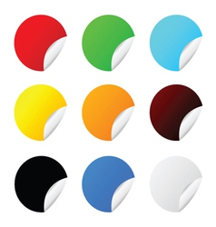 sticker set color vector image
