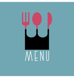 Stylish restaurant menu design in minimal style vector image