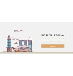 Web Page Chinese City of Dalian vector image vector image
