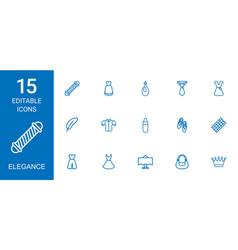 15 elegance icons vector