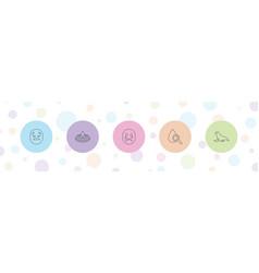 5 aqua icons vector