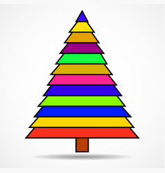 abstract christmas tree of colorful stripes vector image