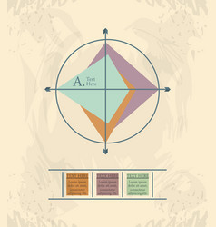 Abstract infographics with arrows sketches vector