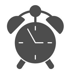 Alarm clock solid icon watch vector