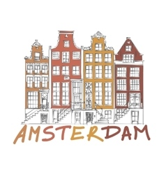 Amsterdam City Drawing vector image